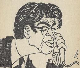 scan van karikatuur Bomans