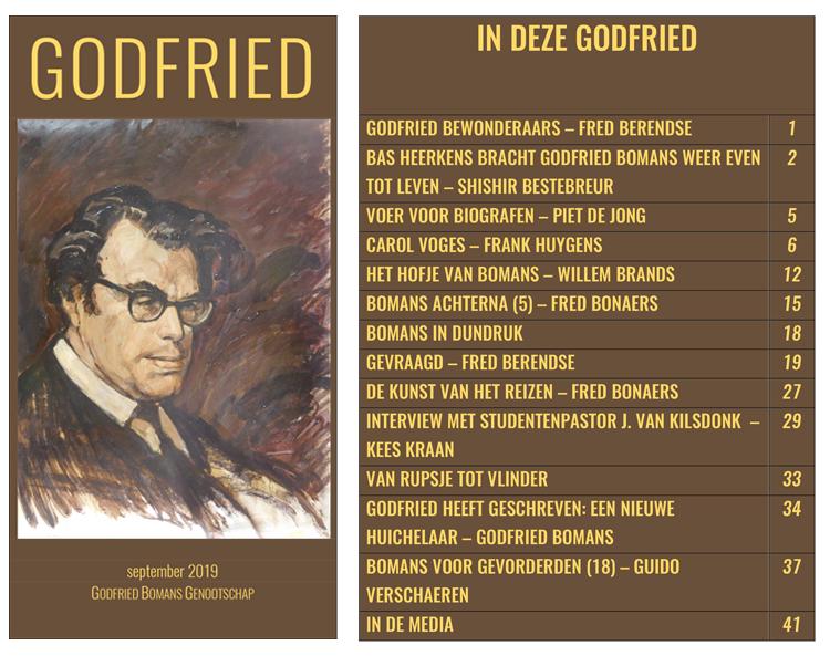 Voorkant en inhoudsopgave laatste Godfried
